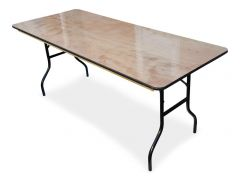 Trestle Table - Wood Banquet 2400mm x 1200mm